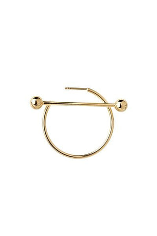 SOLAR MEDI EARRING - HIGH POLISHED GOLD