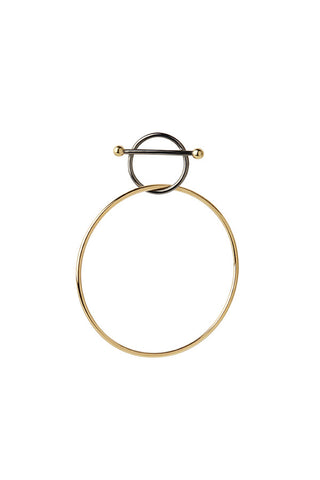 SWING MEDI EARRING - GOLD/BLACK