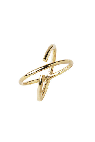 TWIN RING - HIGH POLISHED GOLD