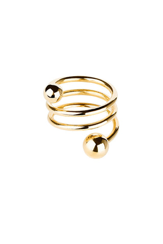 BODY DOUBLE SPIRAL RING - HIGH POLISHED GOLD