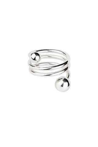BODY DOUBLE SPIRAL RING - SILVER
