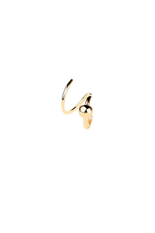 HELIX TWIRL EARRING - HIGH POLISHED GOLD