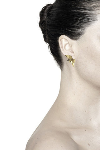 WING REVERSE EARRING - HIGH POLISHED GOLD