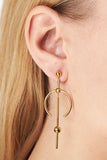 HYDRA MEDI EARRING - GOLD/BLACK