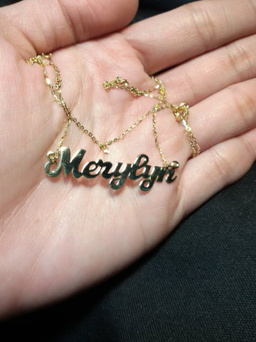 21aec7f7e9194 18 Karat Gold Personalized Name Necklace