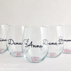 Bridal Party • Stemless Wine Glass