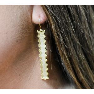 Ruffle Bar Earrings