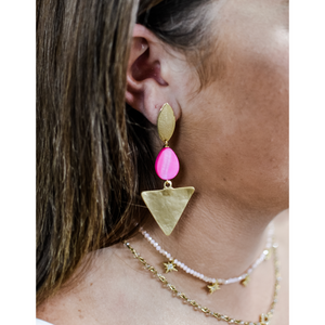 Pink Sandy Earrings