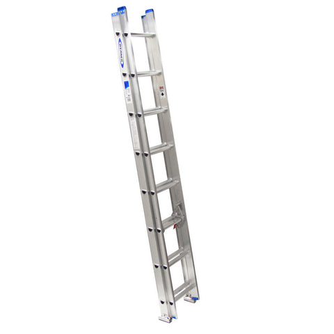 Werner ALUMINUM Extension Ladder with Integrated Leveling D1800-2EQ