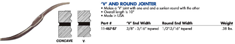 V AND ROUND JOINTER