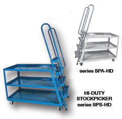 Vestil Ergo- Hi-Duty Stockpicker Trucks
