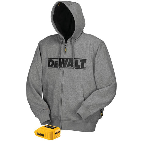 20V/12V MAX* Gray Heated Hoodie (Hoodie and Adaptor Only) - DCHJ068B