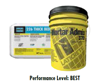 Laticrete 3701 Mortar Admix and 226 Thick Bed Mortar