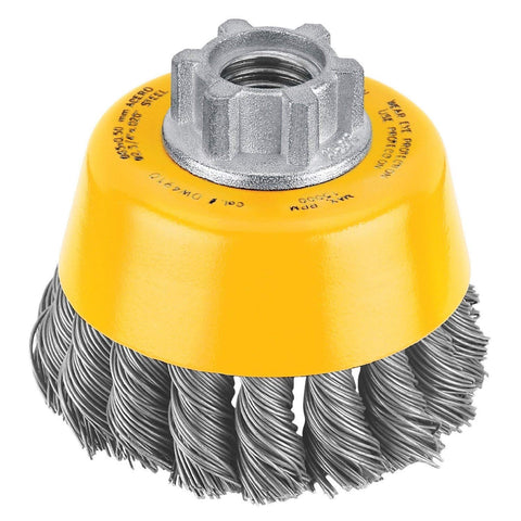 "3"" x 5/8""-11 HP .020 Carbon Knot Wire Cup Brush - DW4910S"