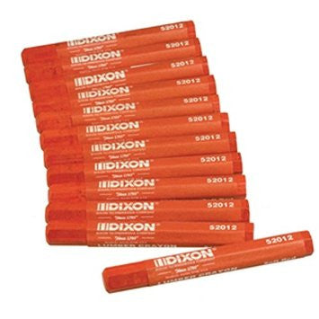 Dixon 52012 Lumber Marking Crayons, Soft Red