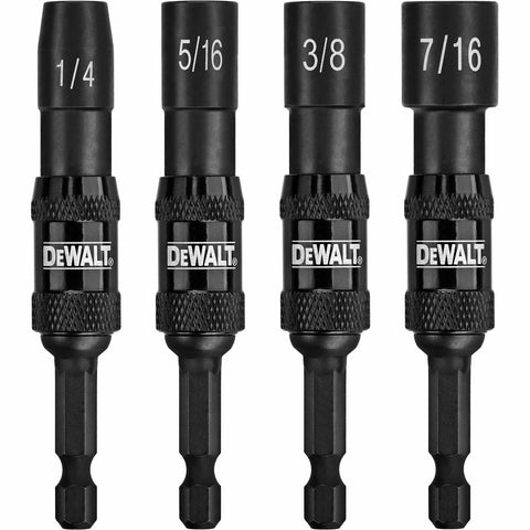 "4 Pc. Pivoting Netsetters (1/4"", 5/16"", 3/8"", 7/16"") - Impact Ready® - DWPVTDRV"