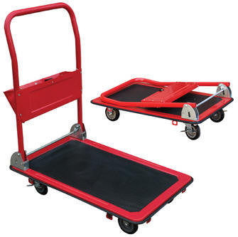 Vestil Ergo-Steel Folding Handle Platform Truck