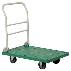 Vestil Ergo- Plastic Platform Trucks with Fold Down Handle