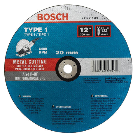 Bosch CWPS1M1220 Asphalt Ductile Cutting Wheel, 12-Inch 5/32 by 20mm, 10-Pack