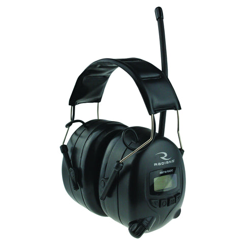 Radians AM/FM digital tuning electronic earmuff with LCD display