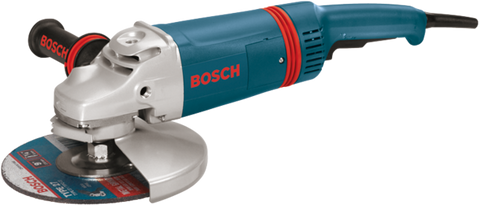 Bosch 9 In. 15 A Large Angle Grinder with Rat Tail Handle - 1893-6