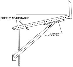 Meadow Burke BBA-72 Aluminum Bridge Overhang Bracket