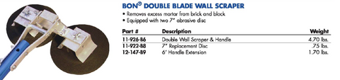 DOUBLE BLADE WALL SCRAPER