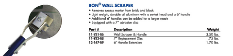 WALL SCRAPER 6' Handle Extension