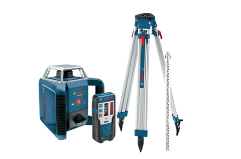 Bosch Self-Leveling Rotary Laser Complete Exterior Kit