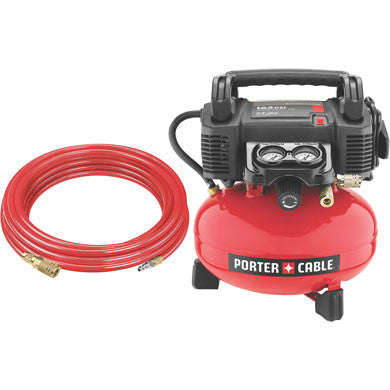 165 psi, 4 gal Oil-Free Pancake Compressor with 25' PU hose and fittings