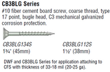 Simpson Strong Tie CB3BLG Series Fiber Cement Board Screw