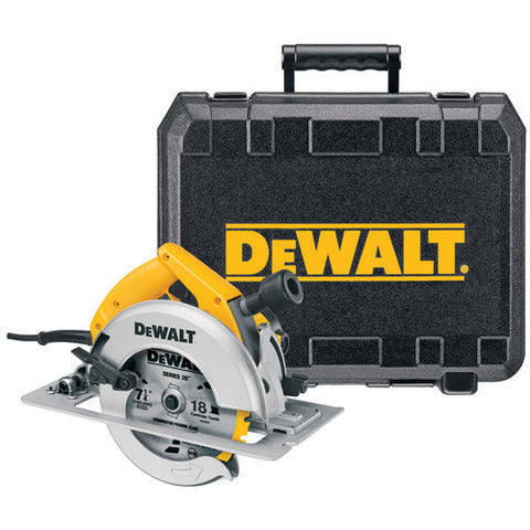 "7-1/4"" (184mm) Circular Saw Kit with Rear Pivot Depth of Cut Adjustment and Electric Brake - DW364K"