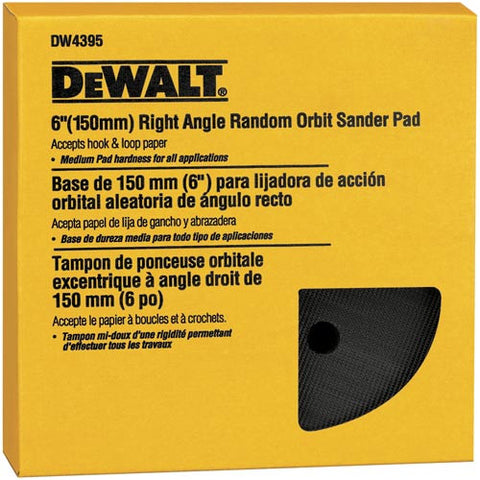 "6"" Hook & Loop™ Pad - Hard - DW4395"