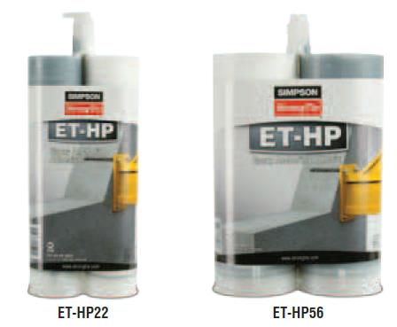 Simpson Strong Tie ET-HP™ (formerly ET) Anchoring Adhesive