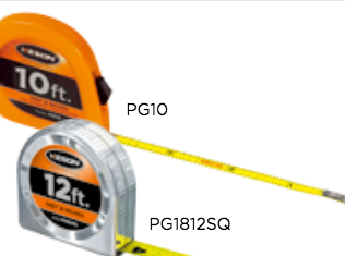 Keson PG1812SQ - Pocket Tape Measure, 12-Feet x 5/8 Inch