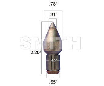 Smith Manufacturing- Tungsten Carbide Tipped Road Planing Bit