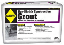 Sakrete - NON-SHRINK CONSTRUCTION GROUT