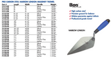 CARBON STEEL NARROW LONDON MASONRY TROWEL