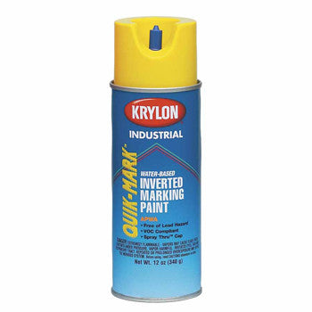 Krylon S03401 APWA Brilliant White Industrial Quik-Mark Water-Based Marking Paint
