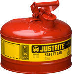 Justrite Type 1 Safety Can Red 2.5gallon