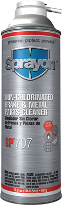 Sprayon SP707 - NON-CHLORINATED BRAKE & METAL PARTS CLEANER - AEROSOL