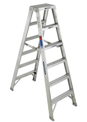 Werner ALUMINUM Multi-Use Twin Stepladder T400 SERIES
