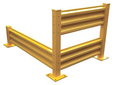 Vestil - Structural Guard Rail 10' Section Bolt On Style Yellow