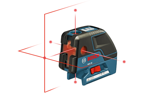 Bosch GCL 25 - Five-Point Self Leveling Alignment Laser with Cross-Line