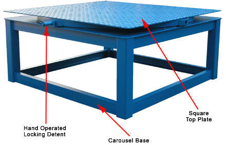 Vestil Steel Tread Plate Top Plates for Carousel