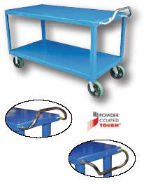 "Vestil Ergo- Handle Carts 8"" x 2"" Mold-On-Rubber Casters"