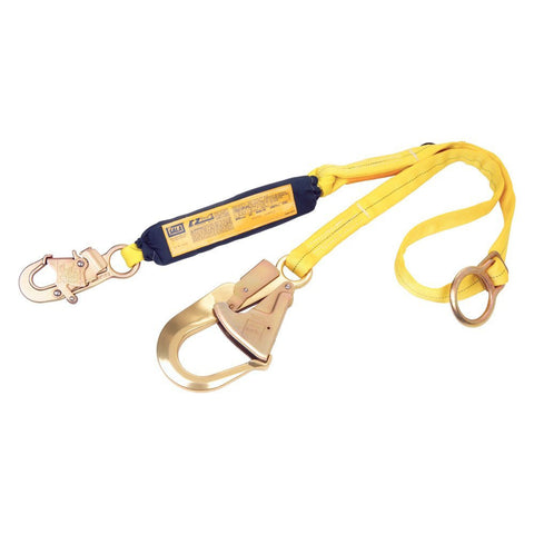 DBI/Sala 1241124 Tie-Back Shock Absorbing Lanyard with Rebar Hook