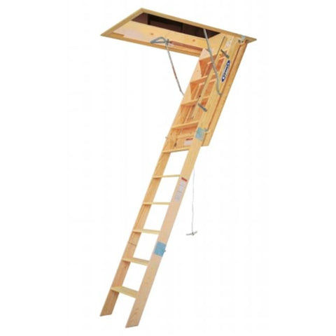 Werner Wood Folding Attic Ladder W SERIES