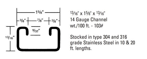 Multi-Strut Stainless Steel Channel / M-164SS