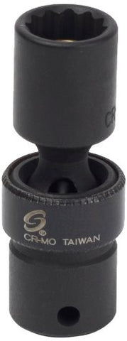 Sunex 806zuMMG 1/4-Inch Drive 6-Mm 12-Point Magnetic Universal Impact Socket